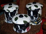3 pcs Custom Canister Set Any Breed, Cats too!