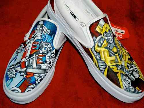 Custom Vans any size Transformers