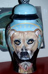 Large Ceramic Pet Dog Urn Bull Terrier Mastiff all breeds