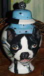 Medium Ceramic Pet Dog Urn Boston Terrier all breeds