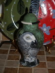 Small Ceramic pet bird Parrot Urn all breeds