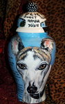 Large Ceramic Pet Dog Urn Greyhound all breeds