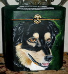 Lg/Med wooden urn for medium to larger breeds