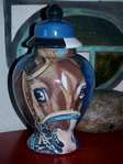 Custom medium ceramic horse urn