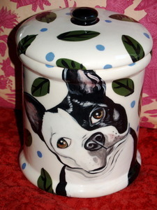 Custom Ceramic Dog Canister Treat Jar ANY Breed! LARGE