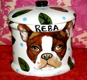 Custom small canister for pet treats or food storage