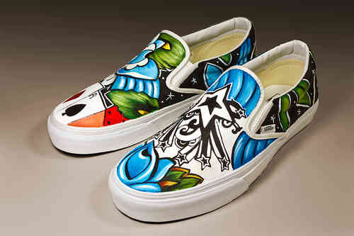 Custom Vans any size abstract contemporary design