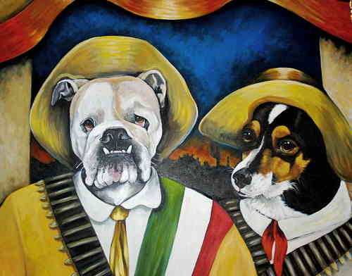Custom pet portrait any theme Large painting 40x60