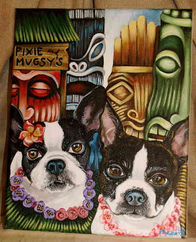 Custom pet portrait any theme 30x40