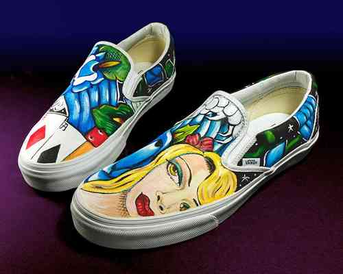 Custom Vans any size Dragon Pheonix