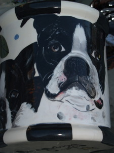 Large Canister Boston Terrier Cookie Jar (any breed)