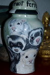 Large Ceramic Pet Dog Urn mutiple ferrets pets all breeds
