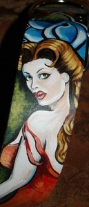 Pin up Large dog collar 2 inches wide (February pin up)